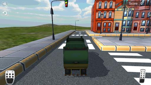 3D Çöp Kamyonu Simülatör Oyunu