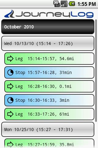 PhoneTrack Mileage Logger - screenshot