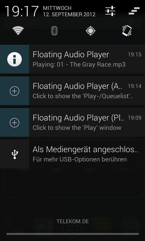 Floating Audio Player- screenshot