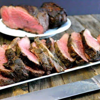 Grilled Butterflied Leg of Lamb with Marinade.