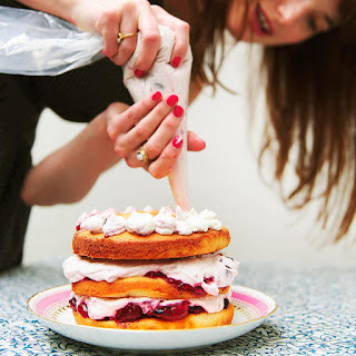 Layered Spiced Summer Berry Sponge