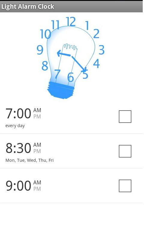 Wake Up Light Alarm Clock - screenshot