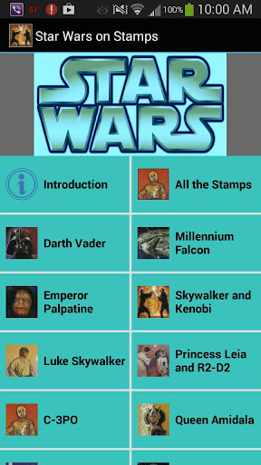 Star Wars on Stamps
