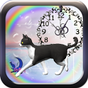 Cute BL&WH Cat-Live Wallpaper icon