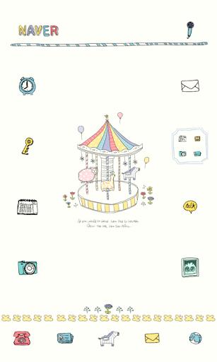 可愛らしい遊園地ドドルランチャのテーマ