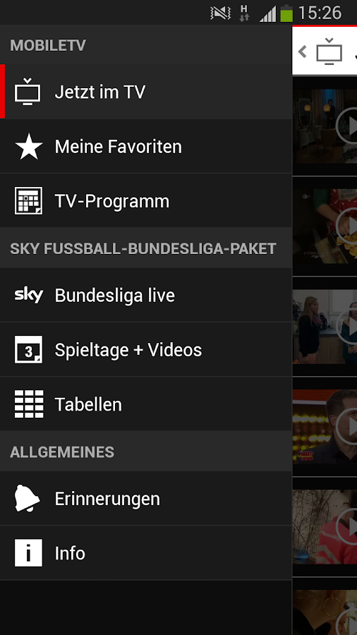 MobileTV - screenshot