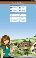 Screenshot of French Class Demo