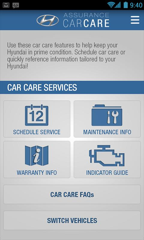 Hyundai Car Care - screenshot