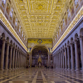 Basilica of Saint Paul Outside the Walls by Agatanghel Alexoaei - Buildings & Architecture Places of Worship ( Architecture, Ceilings, Ceiling, Buildings, Building,  )