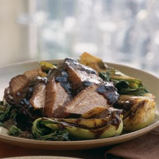Allspice Duck with Braised Bok Choy.
