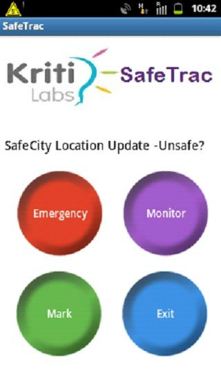 SafeTrac- screenshot