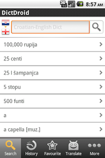 English<->Croatian Dictionary - screenshot thumbnail