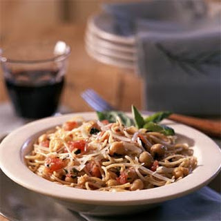 Pasta Skillet with Tomatoes and Beans