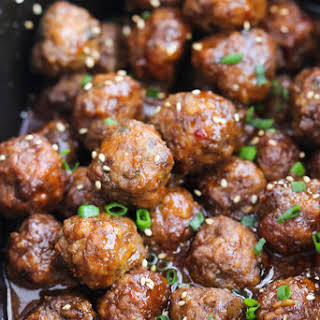 Crockpot Sesame Meatballs.