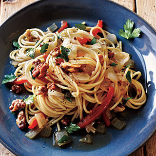 Pasta with Anchovy-Walnut Sauce