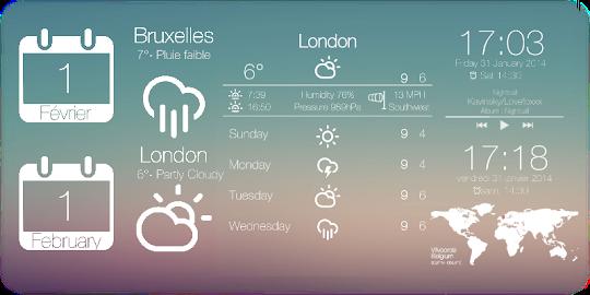 Flat for Zooper Widget Screenshot 5