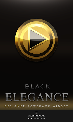 Poweramp Widget Black Elegance