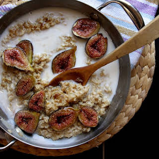 Brown Sugar Roasted Fig Oatmeal.