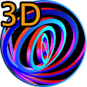 3D Hypnotic Spiral Rings PRO icon