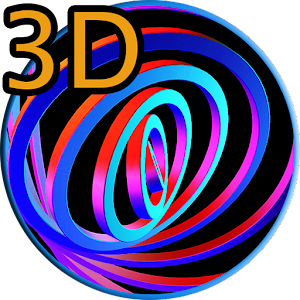 download 3D Hypnotic Spiral Rings PRO apk