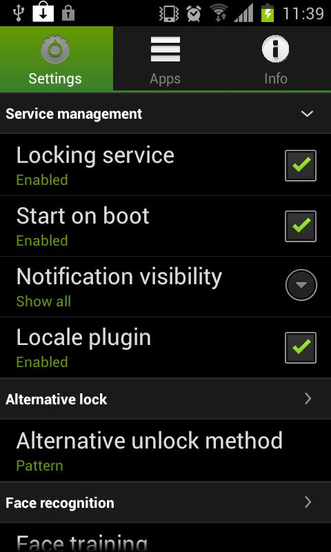 Visidon AppLock Plus - screenshot