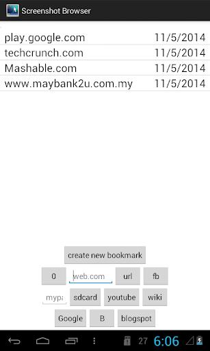 Screenshot nonRoot browser