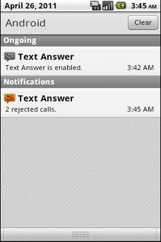 Text Answer - screenshot