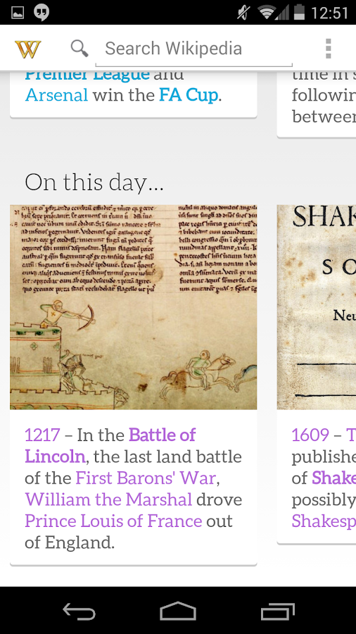 Pocket Wikipedia - screenshot