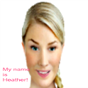 avatar Heather talks to you logo