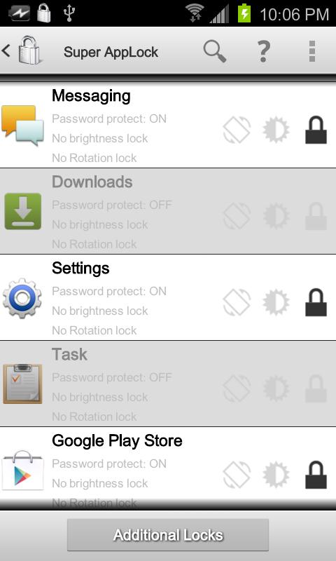 Super AppLock PRO Key - screenshot