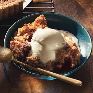 Pear, Almond, and Dried-Cherry Brown Betty