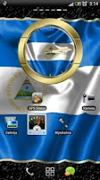 Screenshot of Nicaragua flag clocks