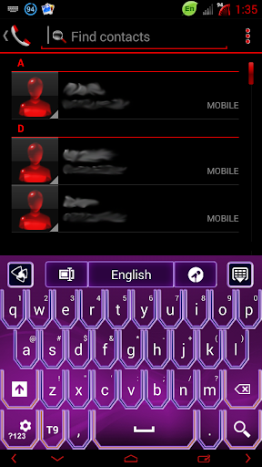 Super Purple Neon GO Keyboard