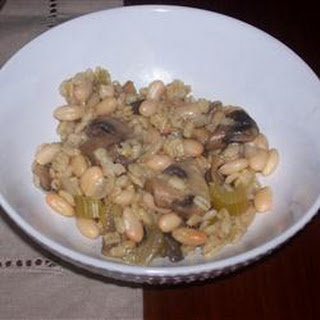 Barley and Mushrooms with Beans.