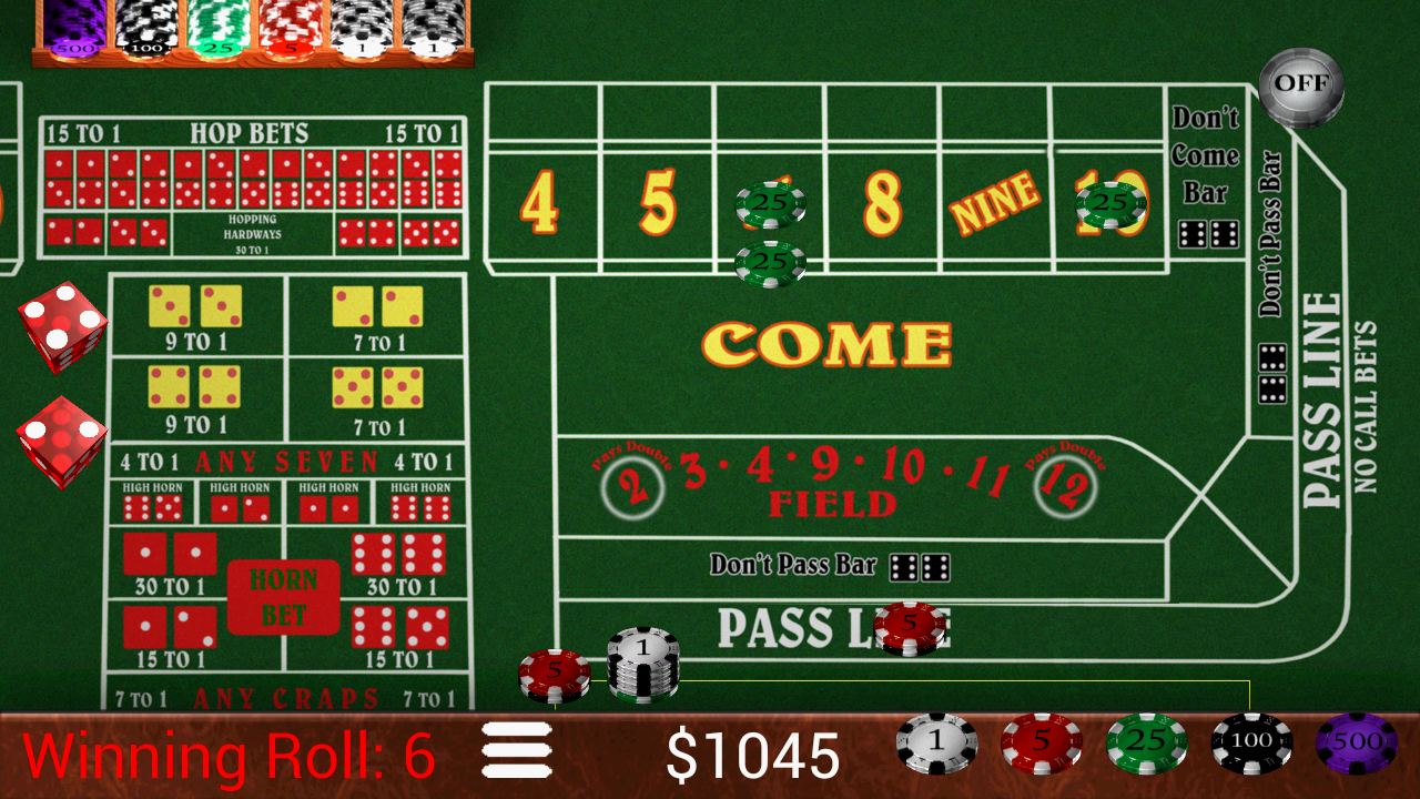 Playing Odds In Craps