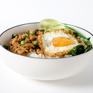 Chinese Ground Chicken Bowl.