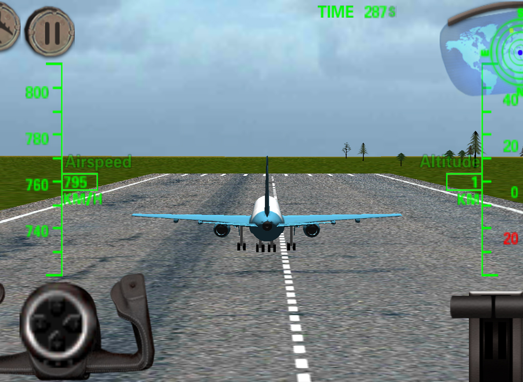 3D Airplane flight simulator - screenshot