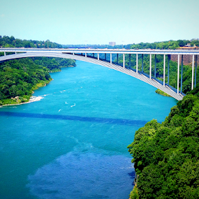Niagara Blue by Christopher Charlton - Buildings & Architecture Bridges & Suspended Structures ( water, canada, blue, bridge, engineering )