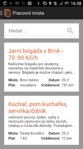 Práce - pracovní místa v ČR