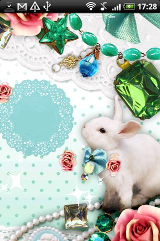 Live Wallpaper Jewelry Rabbit - screenshot