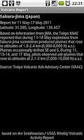 Screenshot of Volcano Report