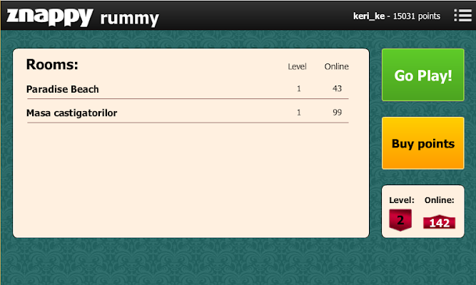 Rummy Znappy - screenshot