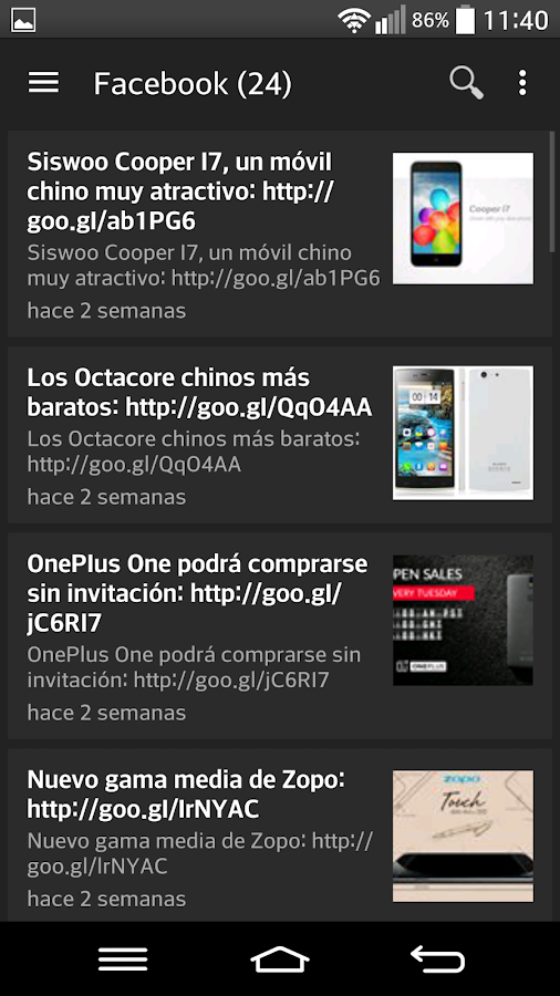 Moviles chinos Androasia- screenshot