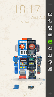 Robot Bobby Live Locker Theme - screenshot thumbnail