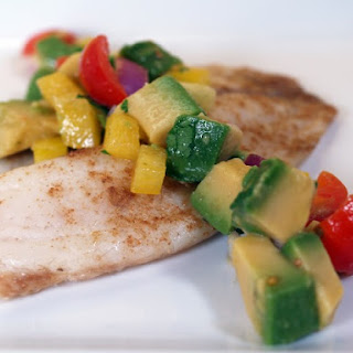 Broiled Fish With Avocado Salsa