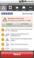 Screenshot of DA Direkt Service App