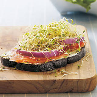 Open-Faced Smoked Salmon Sandwiches.