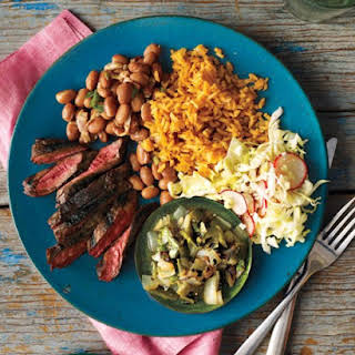 Grilled Skirt Steak with Poblano Relish.