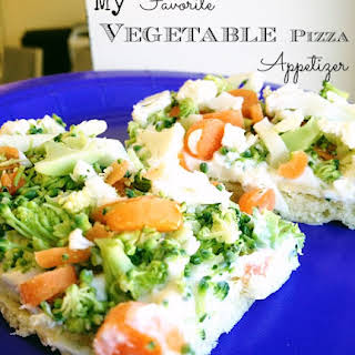 Cold Veggie Pizza Appetizer with Crescent Rolls.