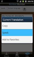 Screenshot of Learn Korean - Phrasebook